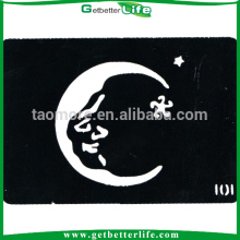 Santa Claus Moon Body Tattoo Stencils (11*8cm)