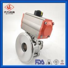 Pneumatic tank bottom ball valves
