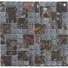 Ice-Cracked Crystal Mix Wall Paper Pattern Glass Mosaic (CFC515)