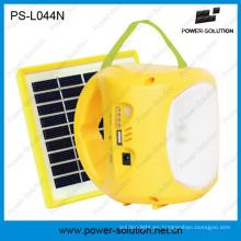 Lámpara solar portátil de la linterna LED con la batería del Li-ion y la carga móvil