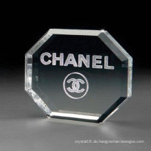 Crystal Glass Octagon Shape Briefbeschwerer-Kostenlose Gravur