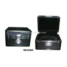new luxury aluminum single watch box with a pillow inside