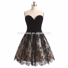 2017 new fashion black color short style wedding dress off shoulder diamond decoration wedding dress bridal
