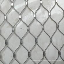 Barrière de filet de fil d'acier de zoo