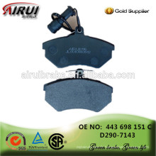 Usine de plaquettes de freins en Chine, pièces d'automobile (OE: 443 698 151 C / D290-7143)