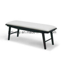 American Style Leder Holz Bett Hocker (SD-36)