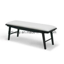 Tamborete de madeira cama de couro estilo americano (SD-36)