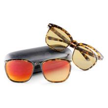 Óculos de sol de moda com quadros removíveis / removíveis e templos