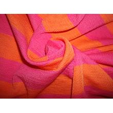 Tissu en jersey de rayures colorées en fil de laine