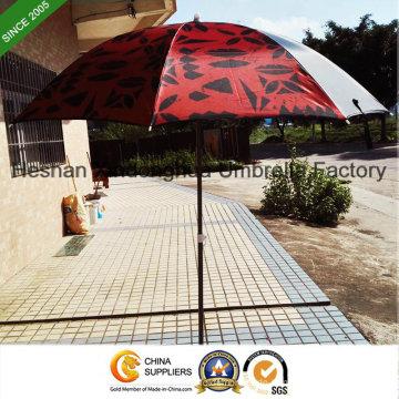 2m schwarz Beschichtung Outdoor-Sonnenschirm mit LSF 50 (BU-0040B)