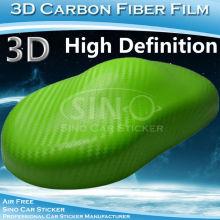 Promosyon 3D Carbon Fiber araba dekorasyon Sticker PVC Film