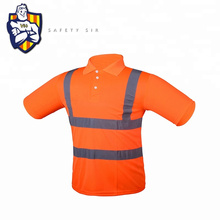 Custom Made Hi Vis Reflective Safety Polo Shirt Reflective work neon traffic visibility safety vest