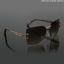 Rimless fashion women's sun glasses