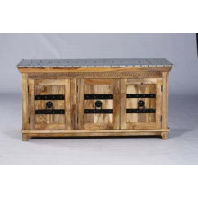 Modern Solid Wood Bed Sideboard