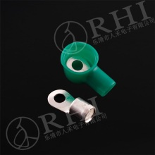Copper cable lug with pvc cover