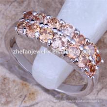 Duas linhas de cristal anel de noivado de diamante China preço de atacado pouco dedo ANEL