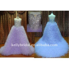 2012 мода современный дизайн и кристалл свадебное платье-11017