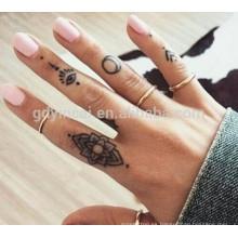 Etiqueta engomada tribal del tatuaje del diseño del tatuaje de la alheña con precio competitivo