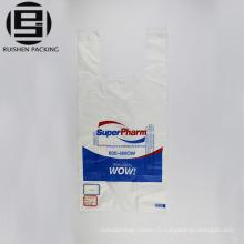 T-shirt sacs en plastique d'impression en gros