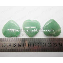 35MM Herzform Grün Aventurine, hoch poliert, hochwertige, natürliche Herzform Stein