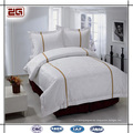 4 Pieces Set Plain White Bedding 5 star Hotel Bedclothes