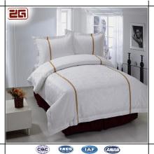 4 Piezas Set Plain White Bedding Hotel de 5 estrellas Bedclothes