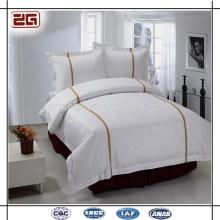4 Pieces Set Plain White Bedding Hotel de 5 estrelas Bedclothes