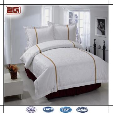 4 pièces Set White White Bedding Hôtel 5 étoiles Bedclothes
