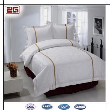4 Pieces Set Plain White Bedding 5 star Hotel Bedclothes
