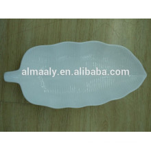 high grade leaf shape hotel plate white porcelain