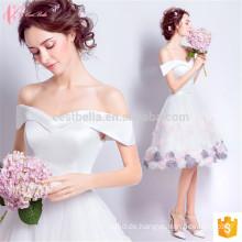 Weißes kurzes off-Schulter-lateinisches traditionelles formales spanisches Art-Abend-Kleid