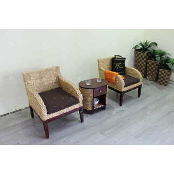 Extremely Attractive Style Water Hyacinth Sofa Set for Indoor Living Set