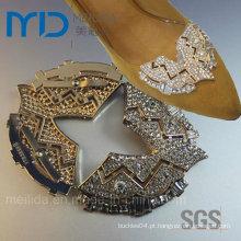 Fivelas de cristal brilhante Rhinestone para sapatos de vestido das mulheres