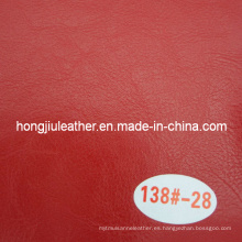 Red Oil Waxy Leather para muebles de sofá