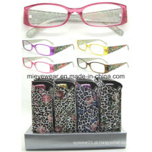 Senhoras moda plástico leitura óculos (MRP21681)