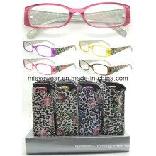 Дамы моды пластиковые очки чтения (MRP21681)