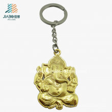 Free Design Wholesale Casting Metal Custom Elephant Keychain for Buddhism
