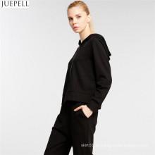 Europeos y americanos de gama alta de la moda femenina de ocio de ocio traje de manga larga con capucha suéter de dos piezas de las mujeres traje de deporte