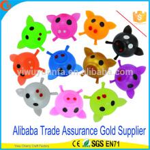 Heißes verkaufendes Qualitäts-buntes Schwein-Kopf Splat Ball Spielzeug