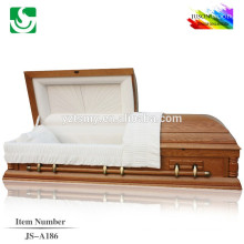 2015 hot sale American style exported wooden pink casket