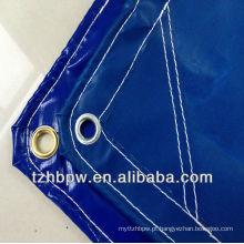 Pacífico azul PVC revestido tarpaulin 400g-1000g / m²