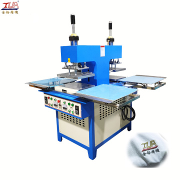 Clothing trademark hand push  silicone machine