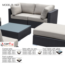 Foshan outdoor furniture factory wholesale price sectional corner sofa set.