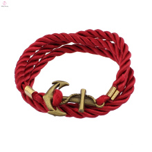 Couples de bracelet d'énergie d'énergie de l'ancre X de bracelet en or rouge d'or
