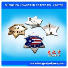Insignia militar del Pin del sheriff de la estrella (LZY-000399)