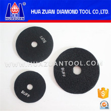 "4"" Black Granite Wet Buff Polishing Pads"