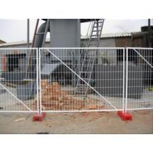 Clôture temporaire en métal soudé galvanisé à chaud à chaud en fer forgé