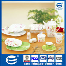 bamboo decal luxury porcelain dinner sets