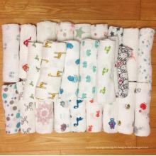 Diseños diferentes diseños de búhos grasa algodón barato mousseline de bebé mantas manta