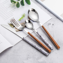 High Quality Wood Grain ABS Plastic Handle Cutlery